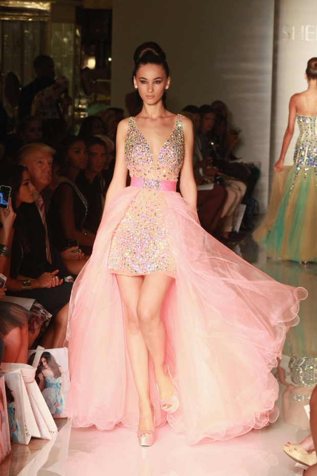 Evening Sherri Hill - Runway - Spring 2013 Mercedes-Benz Fashion Week